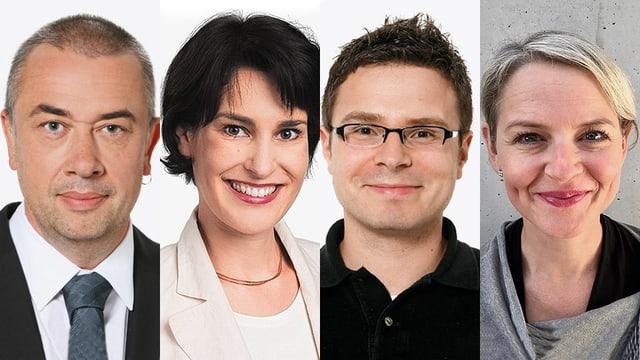 Von links: Hansruedi Schoch, Regula Wirz, Michael Cyriax und Edith Gillmann
