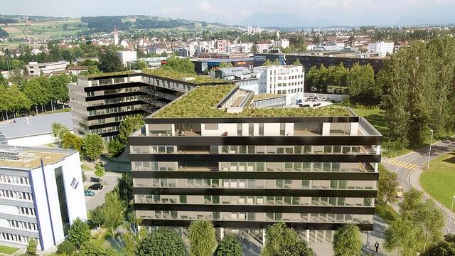 Das Wohn- und Geschäftshaus Buchenhof in Sursee.