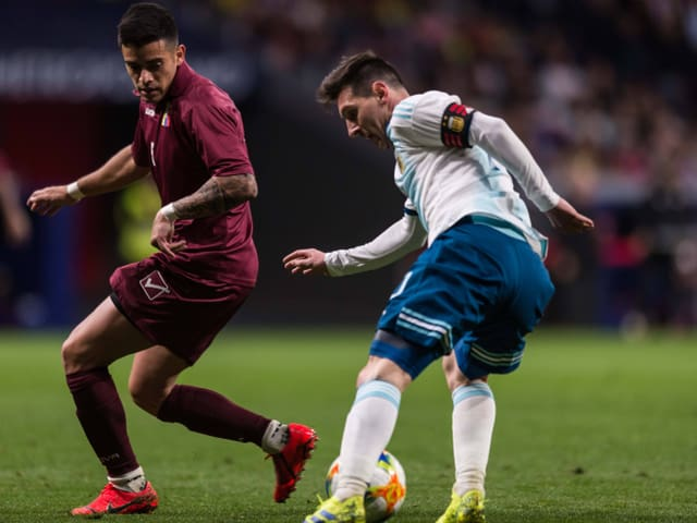 Lionel Messi verliert mit Argentinien im Test gegen Venezuela.