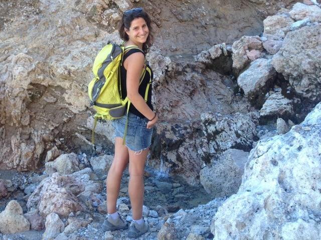 Laura in den Bergen