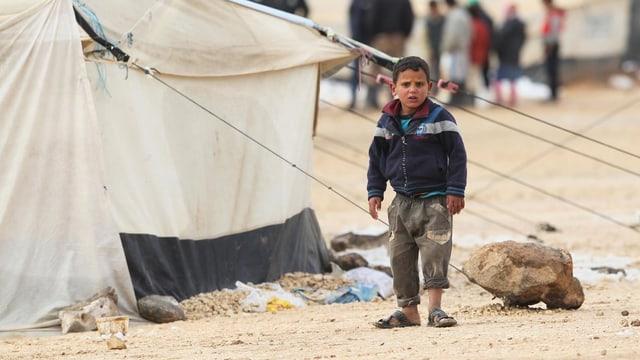 In camp per fugitivs da la Siria en il nordost da la Jordania.