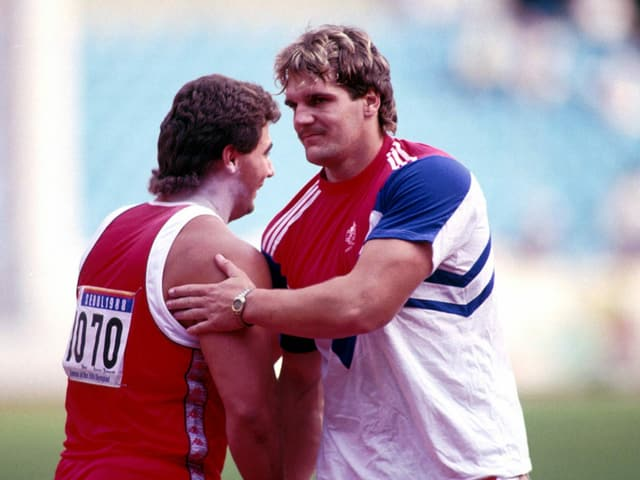Randy Barnes und Werner Günthör.