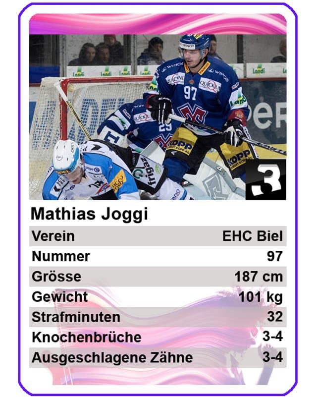 Mathias Joggi (EHC Biel): «Ich würde sogar noch versuchen aufs Eis zu gehen und ein Spiel fertig zu spielen, wenn ich nicht mehr richtig gehen könnte.»