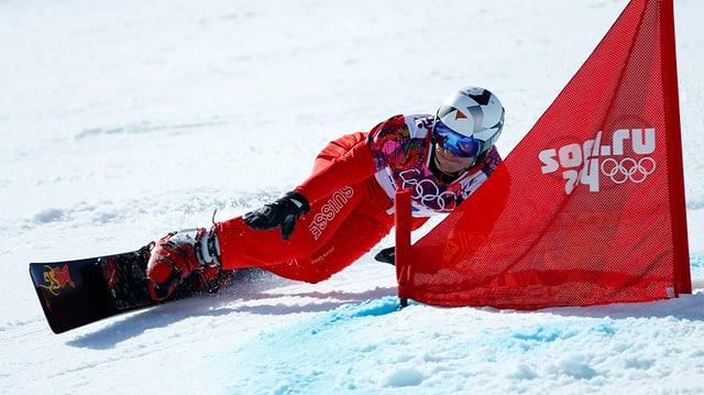 Nevin Galmarini en acziun al gieus olimpics a Sotschi.