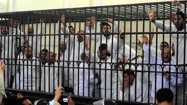 Protest in ägyptischem Gerichtssaal