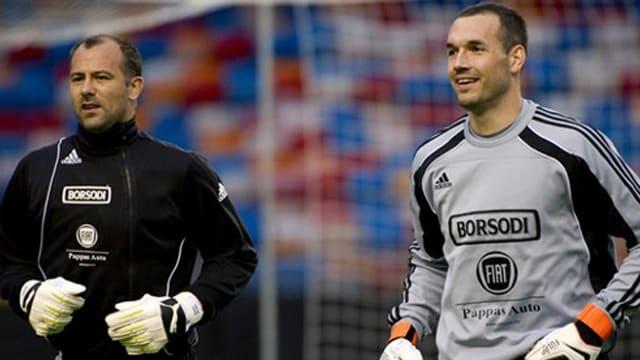 Kiraly und Fülöp zusammen im Dress der ungarischen Nationalmannschaft.