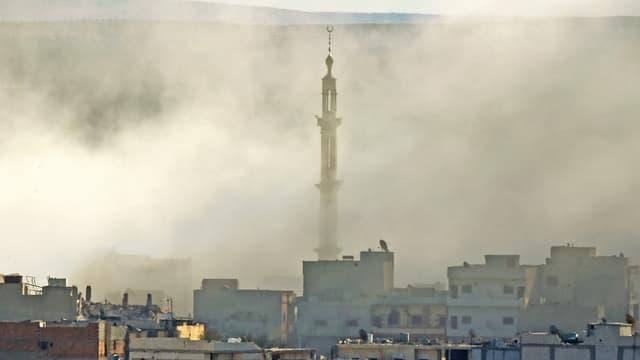 Rauch über Kobane