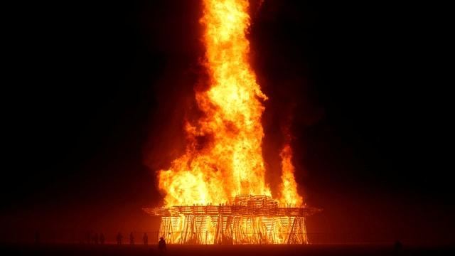 Feuer am «Burning Man»-Festival