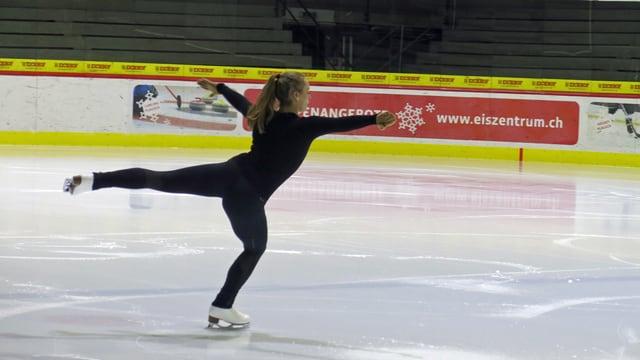 Valentina Biasca am Trainieren