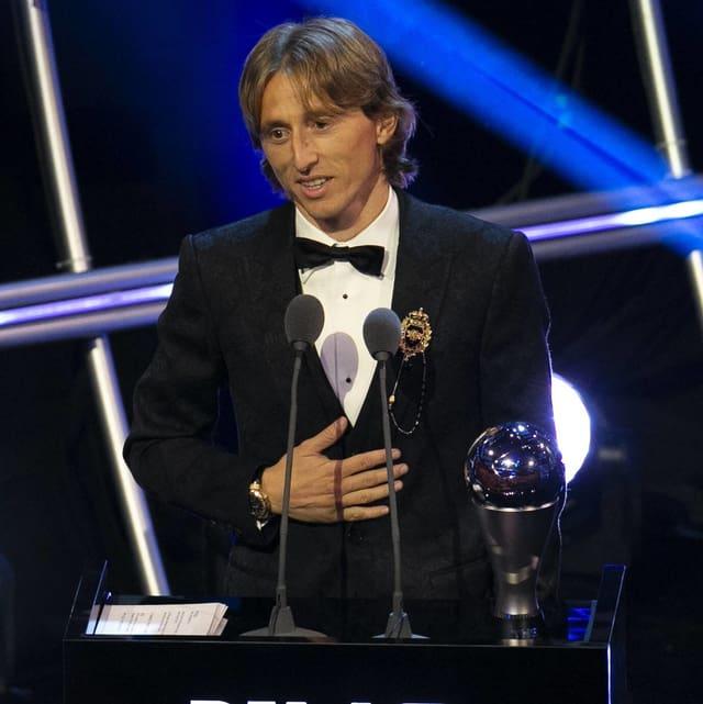 Modric bei der Preisübergabe von «The Best».
