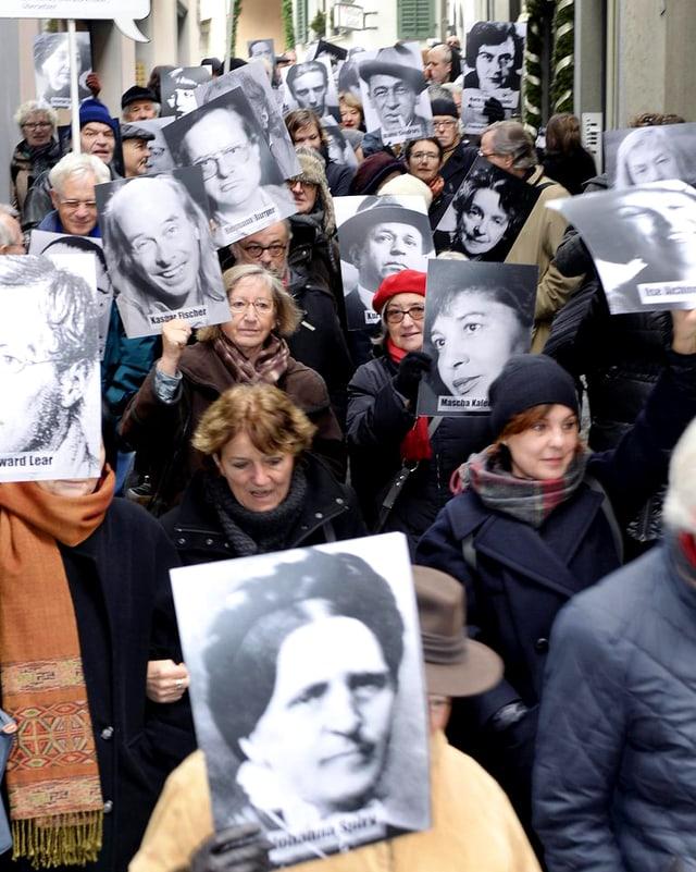 Demonstranten in Zürich.