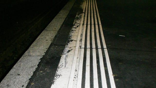 Foto einer Sicherheitslinie