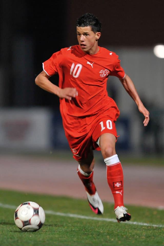 Darko Jevtic im Dress der Schweizer U17-Nati