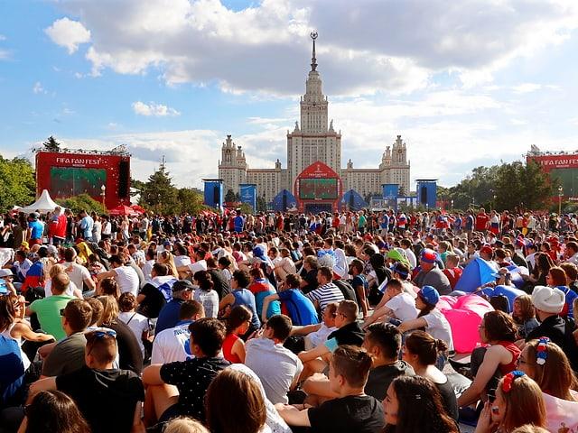 Blick auf die Fanzone in Moskau.