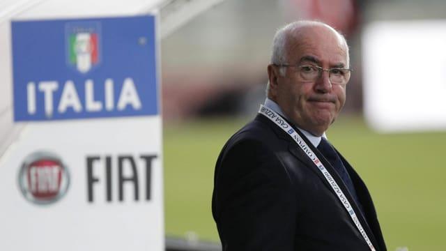 Der italienische Verbandspräsident Carlo Tavecchio.