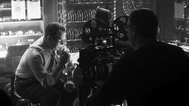 Gary Oldman während der Dreharbeiten von David Finchers «Mank».