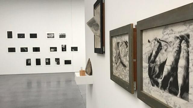 L'exposiziun en il museum d'art a Cuira collia las differentas ovras da Hans Danuser dals ultims 35 onns.