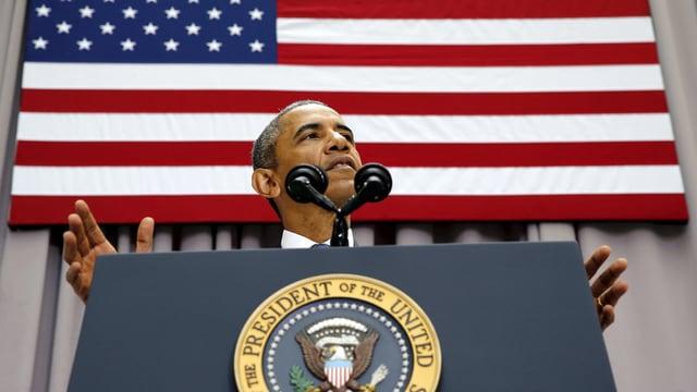 Barack Obama bei seiner Rede an der Universität Washington.