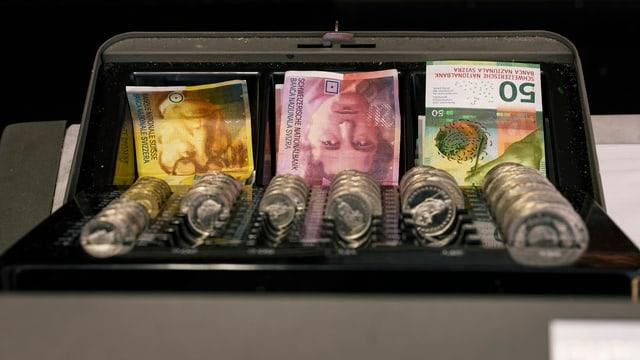 Kasse voller Geld