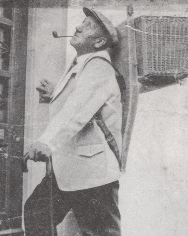 Schwarz weiss Foto von Melchior Gallati.