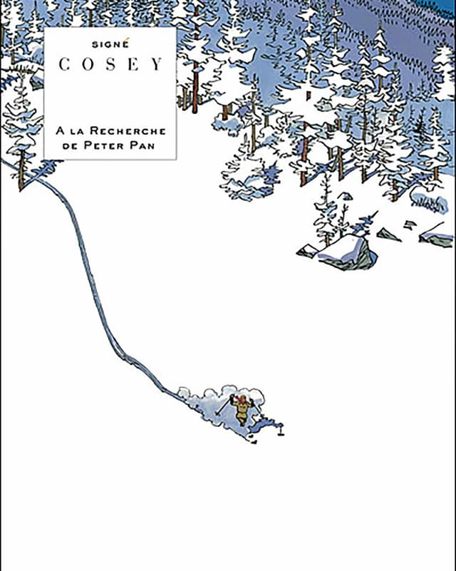 Das Titelbild von «Auf der Suche nach Peter Pan» von Cosey.