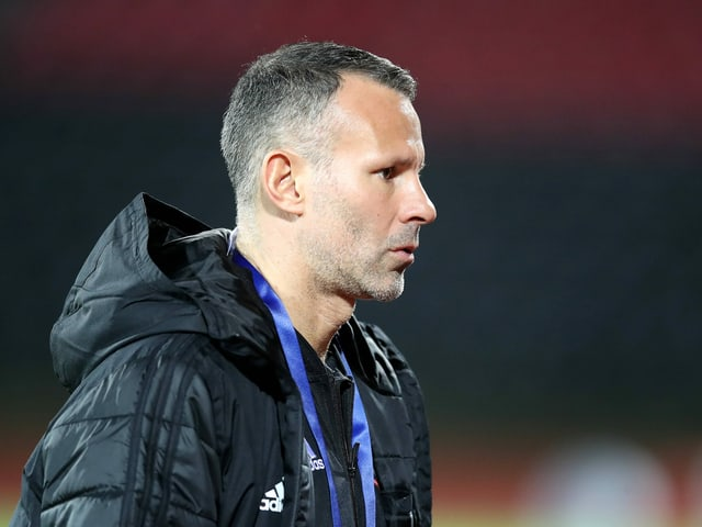 Wales-Trainer Ryan Giggs.