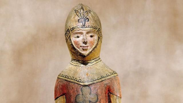 Der Heilige Mauritius aus Holz.