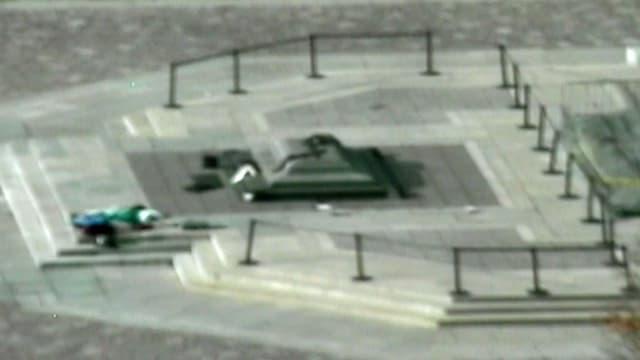 Teleaufnahme auf das Kriegs-Mahnmal in Ottawa.