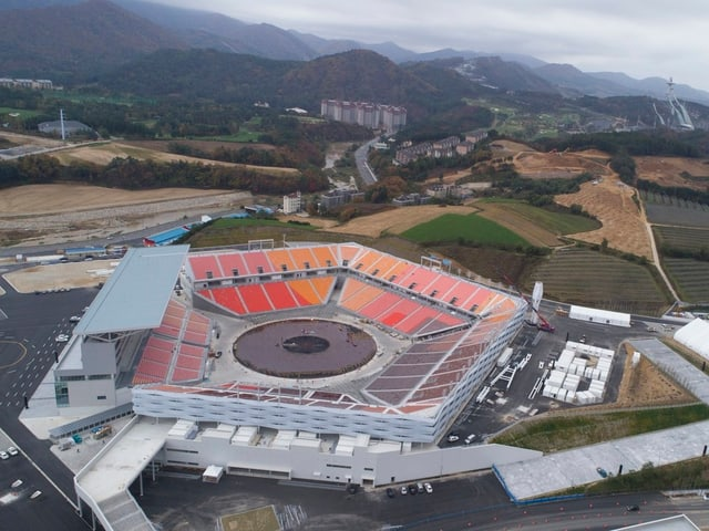 «Pyeongchang Olympiastadion», Luftaufnahme