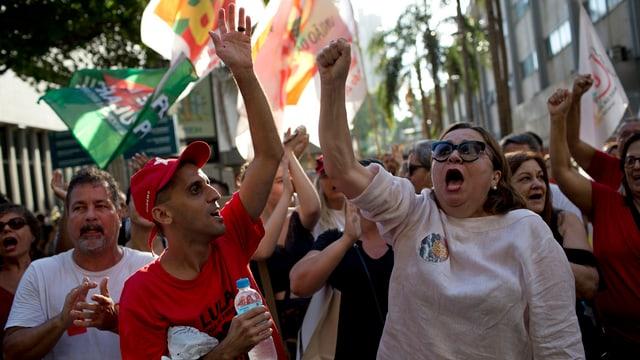 Pro-Lula-Demonstranten.