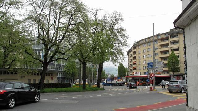 Eine Strasse in Luzern