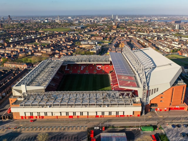 Anfield Road in Liverpool.