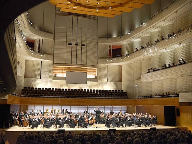 Orchester im Konzertsaal in Luzern.