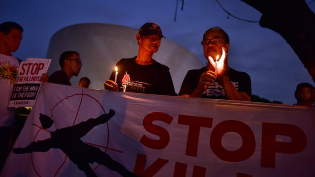 Protest gegen den Drogenkrieg in Quezon City: