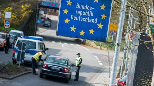 Grenzübergang im Saarland.