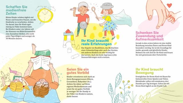 Flyer mit Tipps für Eltern
