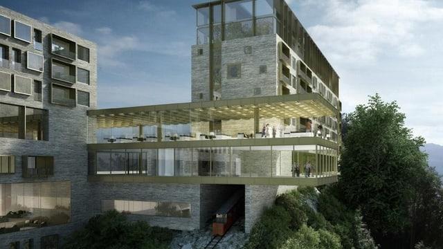 Neubau des geplanten Hotels auf dem Bürgenstock.