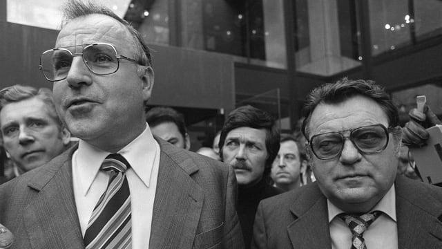 Helmut Kohl und Franz Josef Strauss.