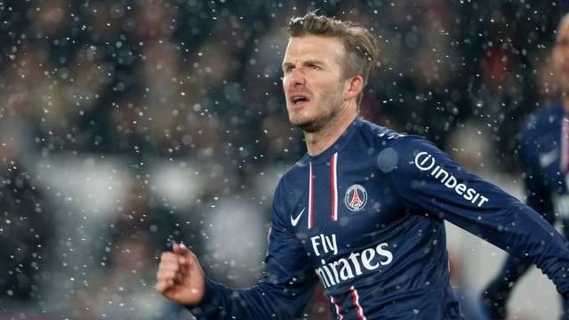 David Beckham kam in der 75. Minute ins Spiel.