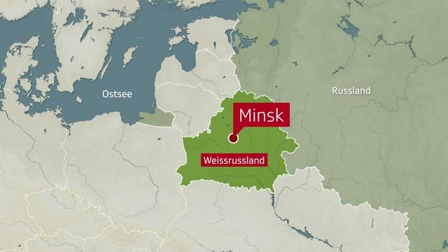 Karte von Weissrussland.