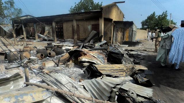 Bild von Anfangs März: In Borno tötet die Extremistengruppe Boko Haram mehr als 80 Menschen.
