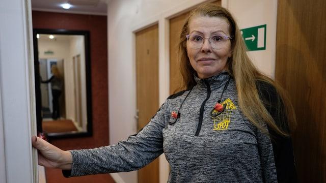 Hotelbesitzerin Irina Kudrjaschowa