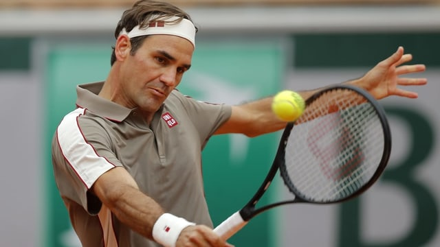 Roger Federer che dat tennis.