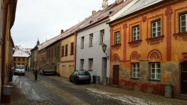 Das Städtchen Trebic, auf dem Weg nach Nove Mesto.