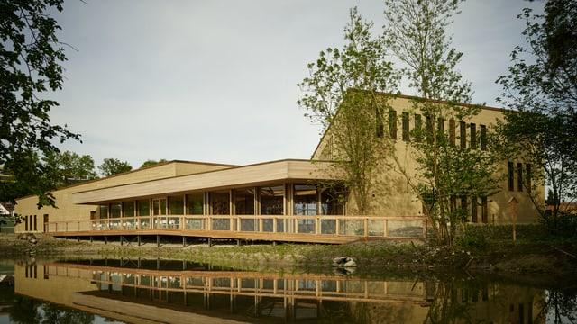Das neue Besucherzentrum der Vogelwarte Sempach - ein Lehmbau
