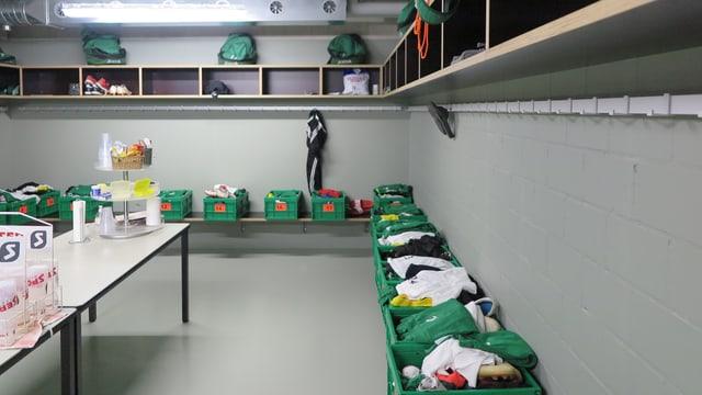 Blick in eine Garderobe im neuen Stadion Kleinfeld in Kriens.