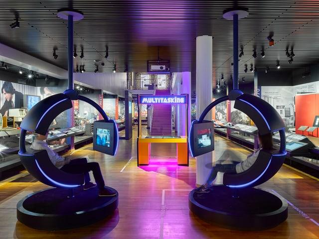 Blick ins Museum für Kommunikation.