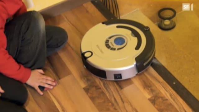 Staubsauger-Roboter auf Treppe