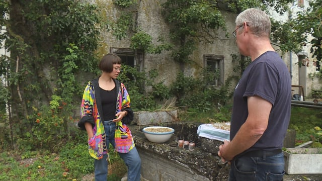 Rebecca Clopath auf dem Biohof Tappolet