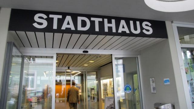 Eingang zum Oltner Stadthaus.